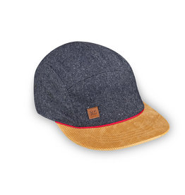 XS Unified Kid's 5 Panel Hat Grey Wool
