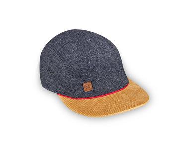 XS Unified Kid's 5 Panel Hat Grey Wool