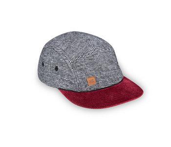 XS Unified Kid's 5 Panel Hat Wool Harringbone