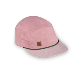 XS Unified Kid's 5 Panel Hat Pink Corduroy