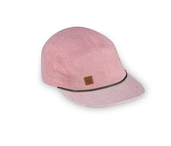 XS Unified Kid's 5 Panel Hat Pink Corduroy