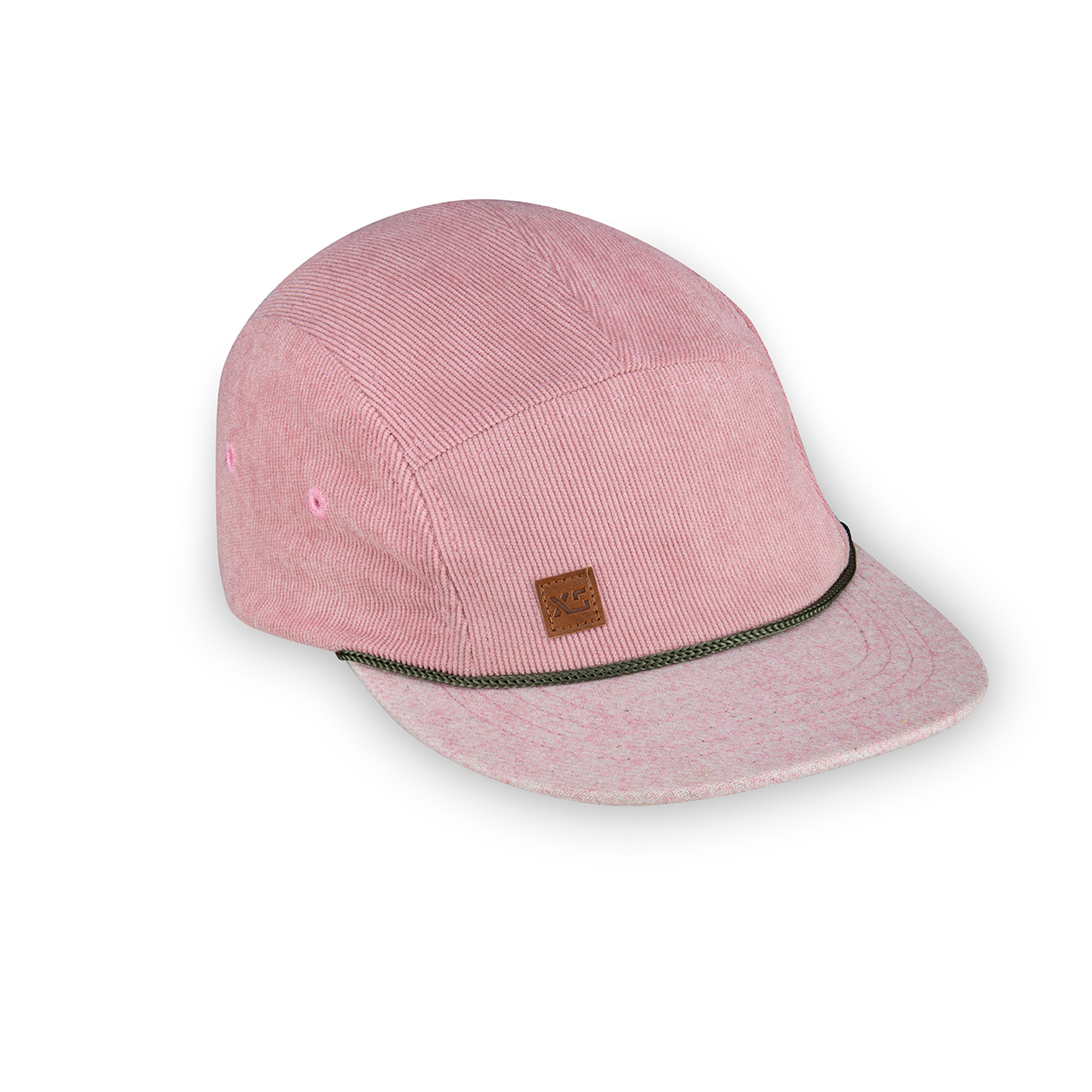 XS Unified XS Unified Kid's 5 Panel Hat Pink Corduroy