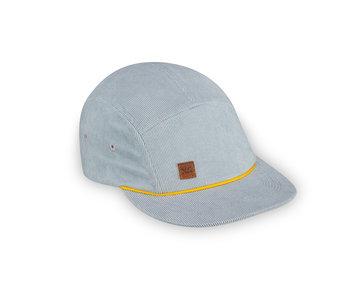 XS Unified Kid's 5 Panel Hat Blue Corduroy