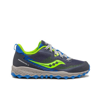 Saucony Youth Peregrine Trail Runner Blue / Green