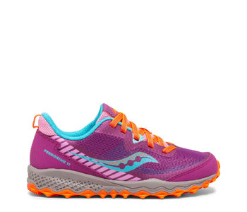 Saucony Youth Peregrine Trail Runner Magenta