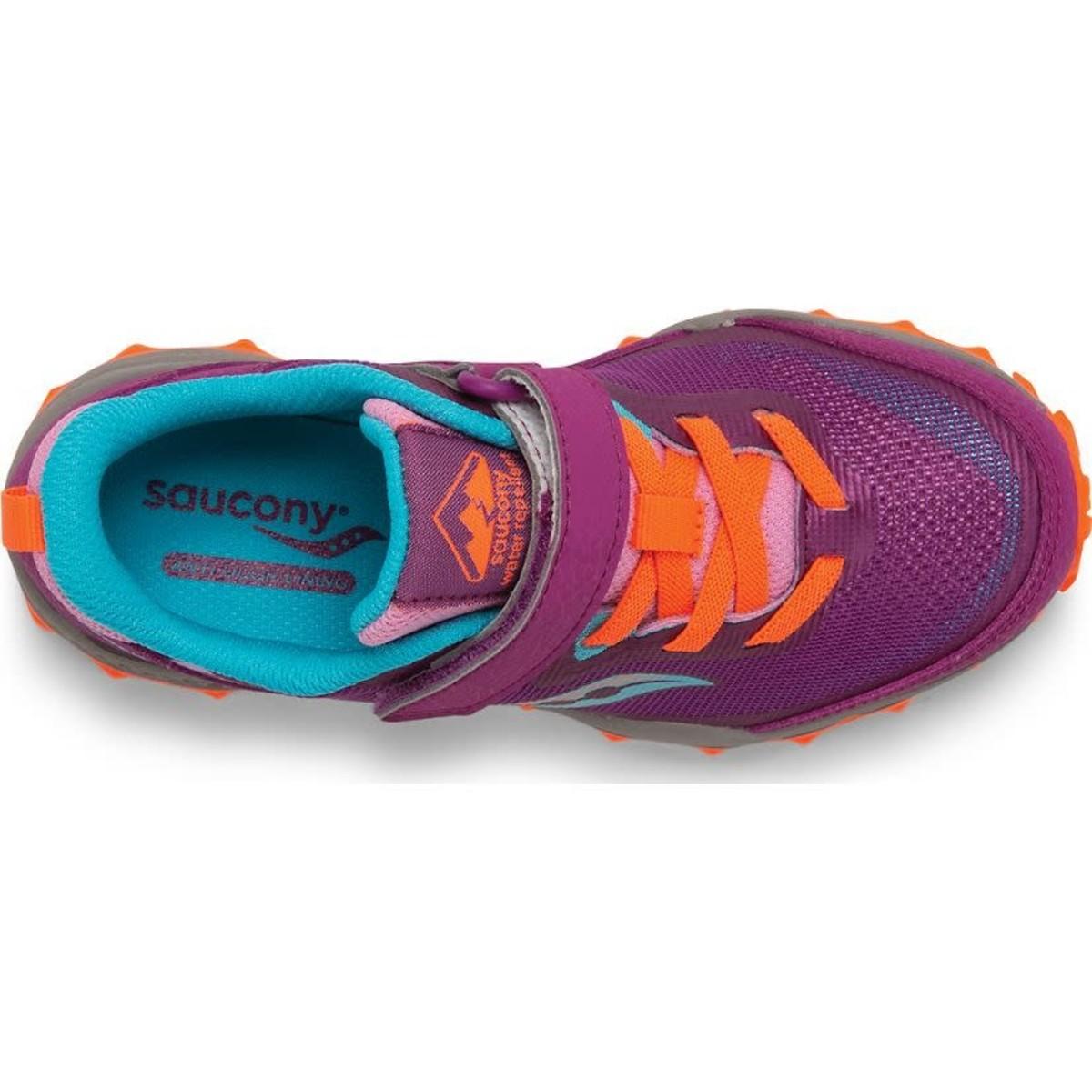 Saucony Kids Peregrine Velcro Trail Runner Magenta