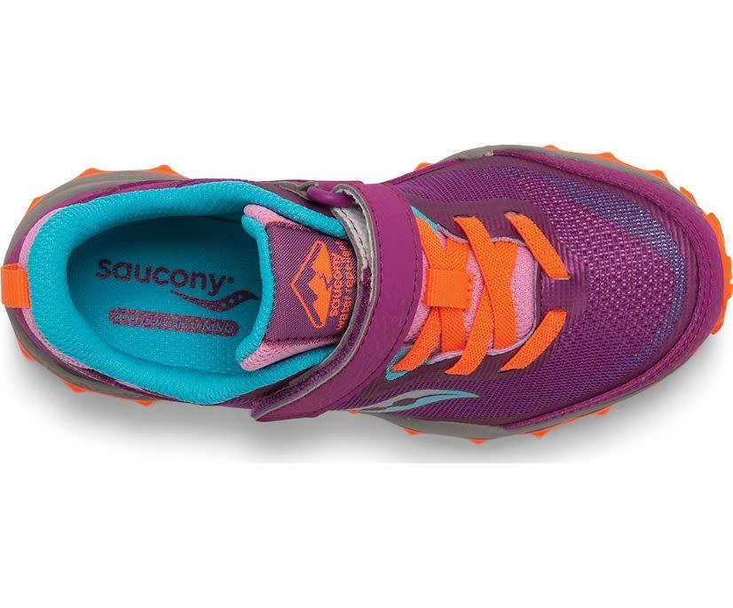 Saucony Saucony Kids Peregrine Velcro Trail Runner Magenta