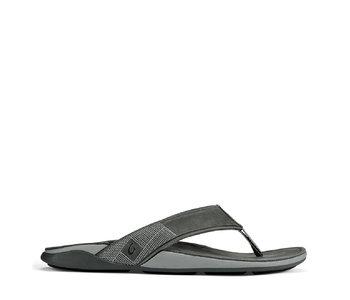 OluKai Tuahine Leather Flip Stone