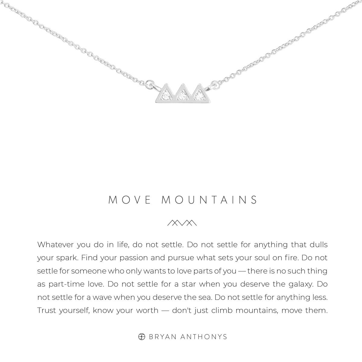 Bryan Anthonys Bryan Anthonys Move Mountains Necklace