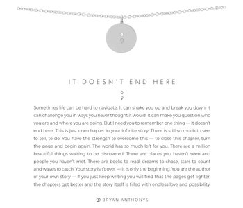 Bryan Anthonys It Doesn't End Here Necklace