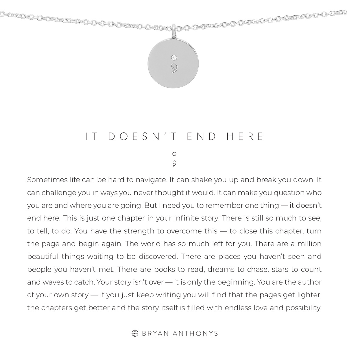 Bryan Anthonys Bryan Anthonys It Doesn't End Here Necklace