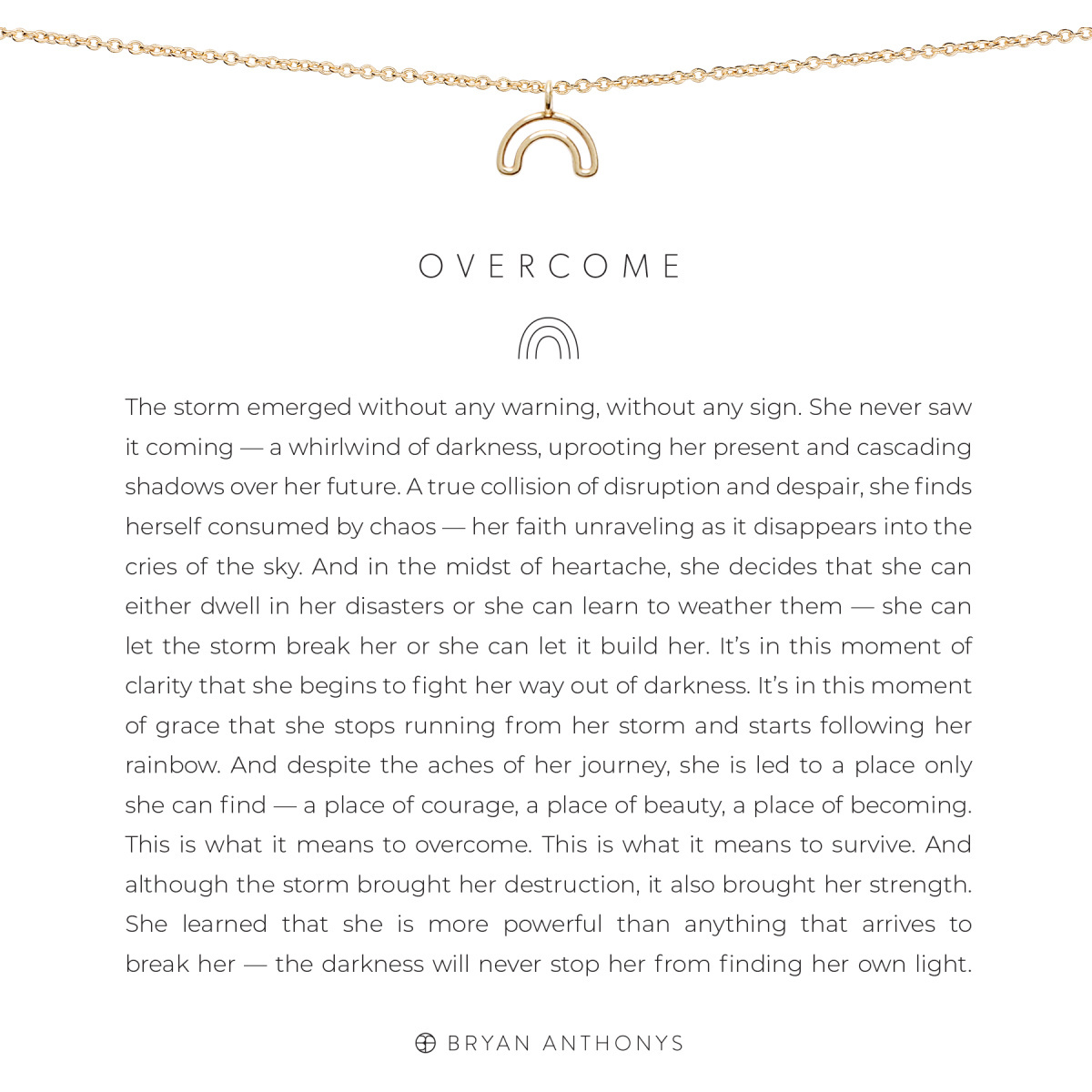 Bryan Anthonys Bryan Anthonys Overcome Necklace