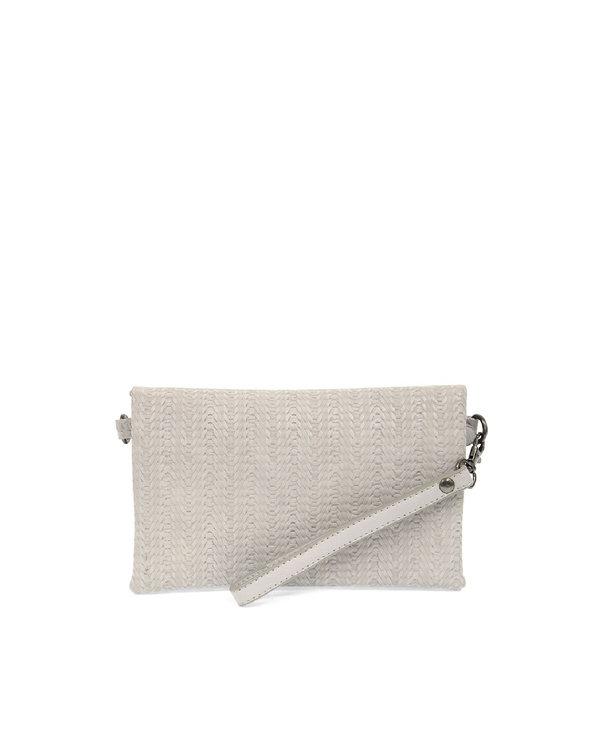 Joy Susan Kate Crossbody Handbag Soft Grey Woven