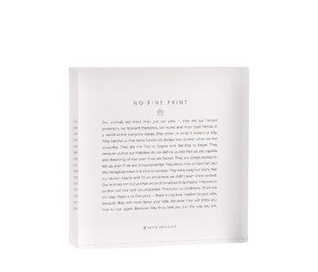 Bryan Anthonys Mantra Block - No Fine Print