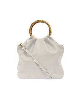 Joy Susan Natalie Bamboo Handle Pouf Bag Dove