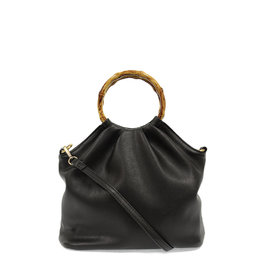 Joy Susan Natalie Bamboo Handle Pouf Bag Black