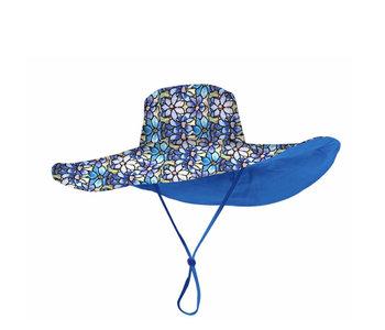 Rain Caper Reversible 50+ UPF Sun Hat Clematis\Black