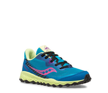 Saucony Youth Peregrine Trail Runner Turquoise