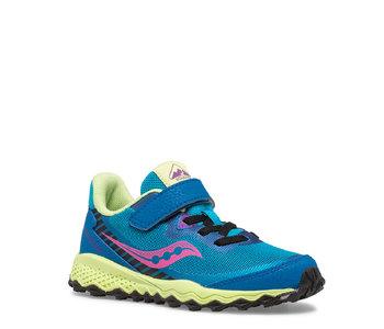 Saucony Kids Peregrine Velcro Trail Runner Turquoise