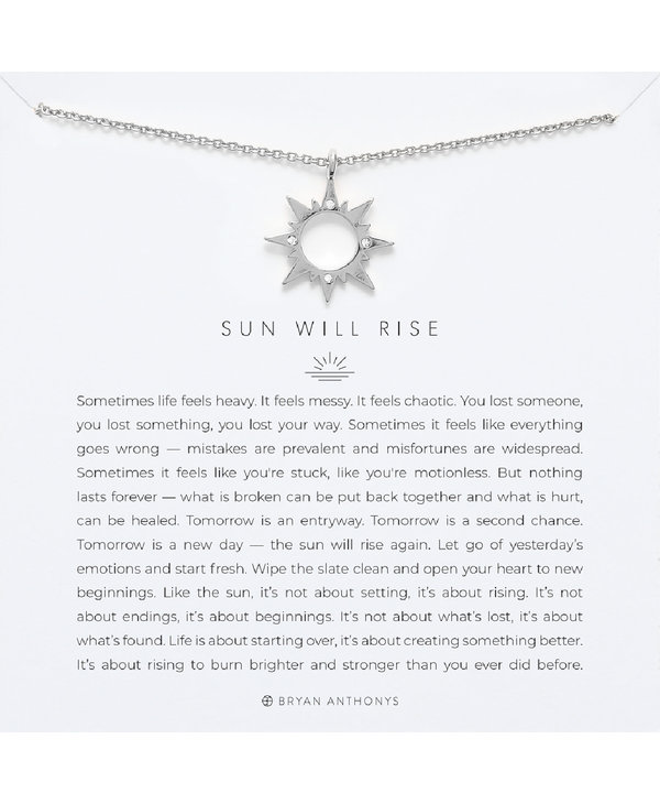 Bryan Anthonys Sun Will Rise Necklace