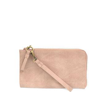 Joy Susan Karina Wristlet/Wallet Pink Whisper