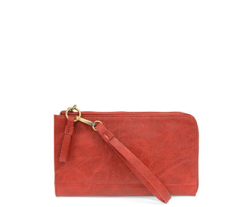 Joy Susan Karina Wristlet/Wallet Red