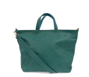 Joy Susan Woven Convertible Shopper Turquoise