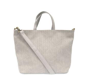 Joy Susan Woven Convertible Shopper Soft Grey