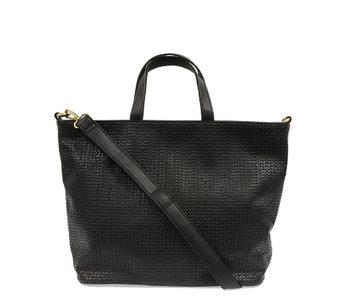 Joy Susan Woven Convertible Shopper Black