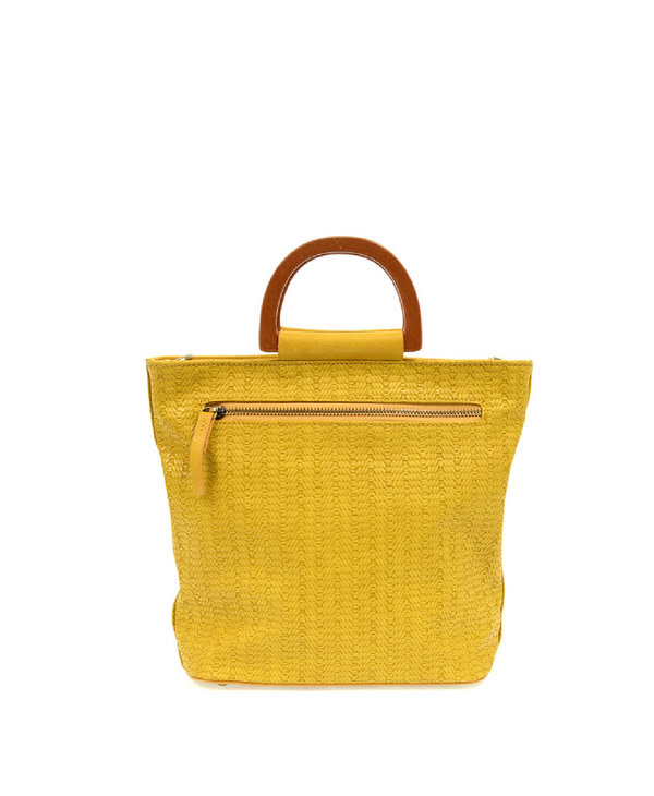 Joy Susan Lily Woven Wood Handle Tote Straw