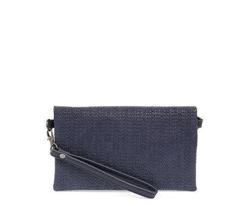 Joy Susan Kate Crossbody Woven Handbag Navy