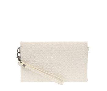 Joy Susan Kate Crossbody Woven Handbag White