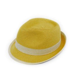 Joy Susan Fedora Natural Band Yellow