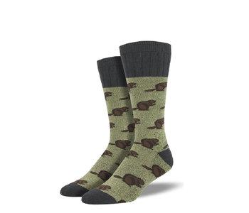 Socksmith Men's Outlands Beavers Green M 7-12.5