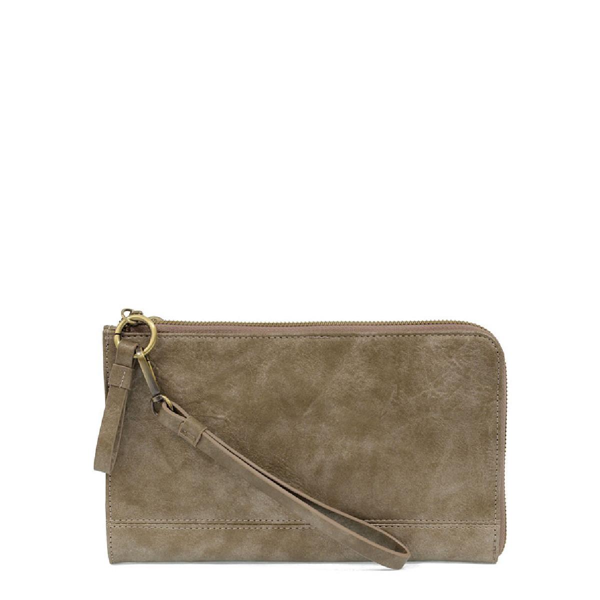 Joy Susan Karina Wristlet/Wallet Distressed Metallic