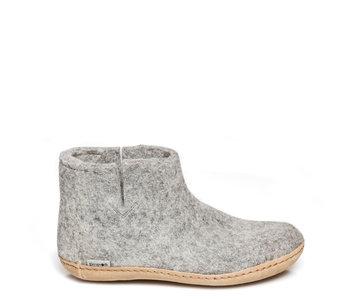 Glerups Unisex Boot Leather Grey
