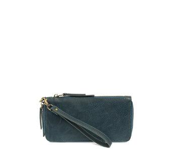 Joy Susan Chloe Zip Wallet Dk. Turquoise