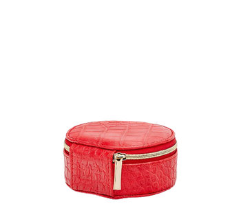 Louenhide Sisco Jewelry Case Croc Red