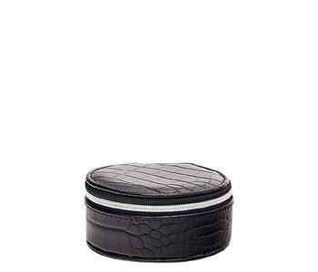 Louenhide Sisco Jewelry Case Croc Black