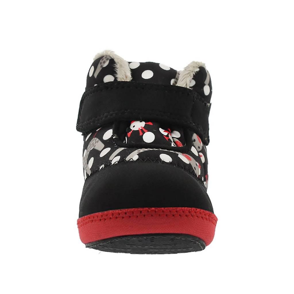 Bogs Baby Elliot Giraffe Black/Red