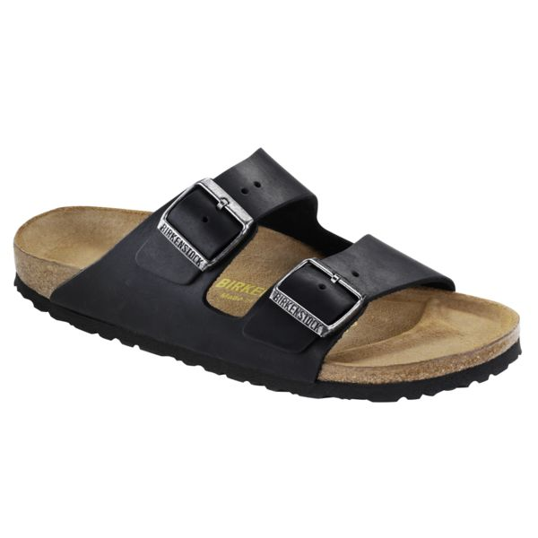 Birkenstock Birkenstock 552113 Women's Arizona Black Oiled Narrow Fit