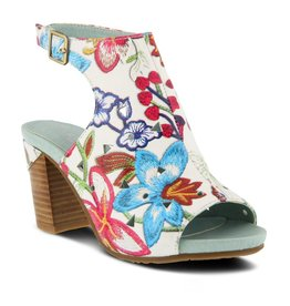 L'Artiste Tapestry Red Multi Heel