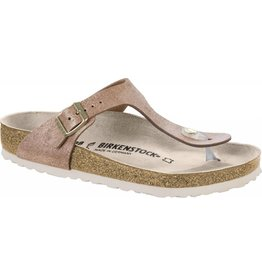 Birkenstock Women's 1008793 Gizeh Washed Metallic Rose Gold