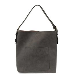 Joy Susan Molly Classic Hobo Handbag Charcoal