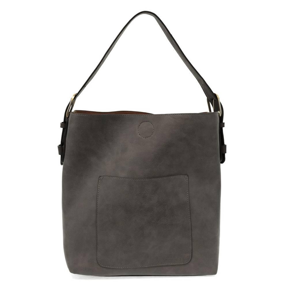 Joy Susan Joy Susan Classic Hobo Handbag Charcoal