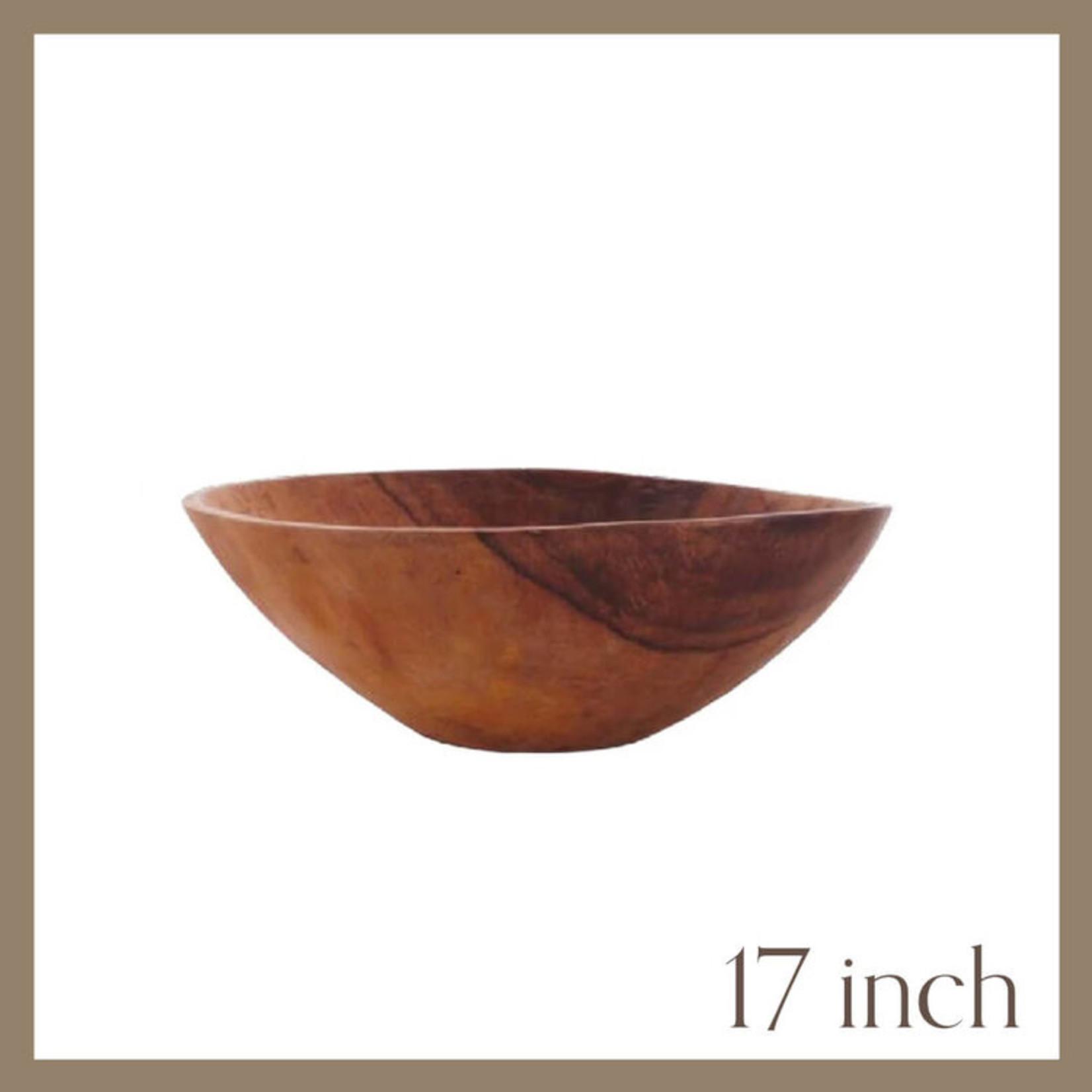 """17"""" Round Wooden Bowl"""