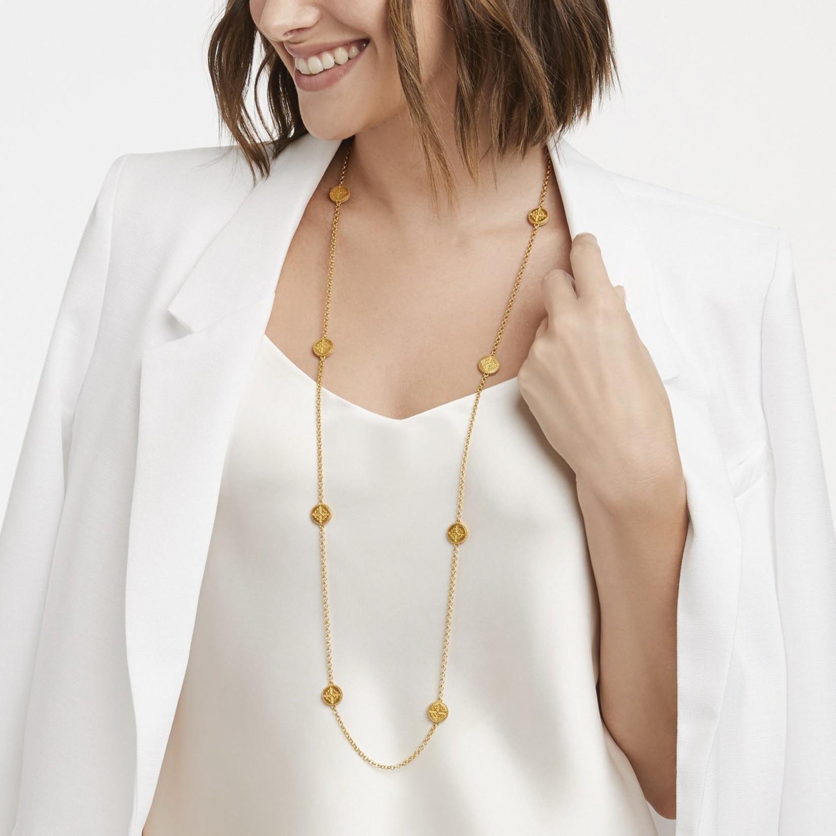 Julie Vos Fleur-de-Lis Station Necklace