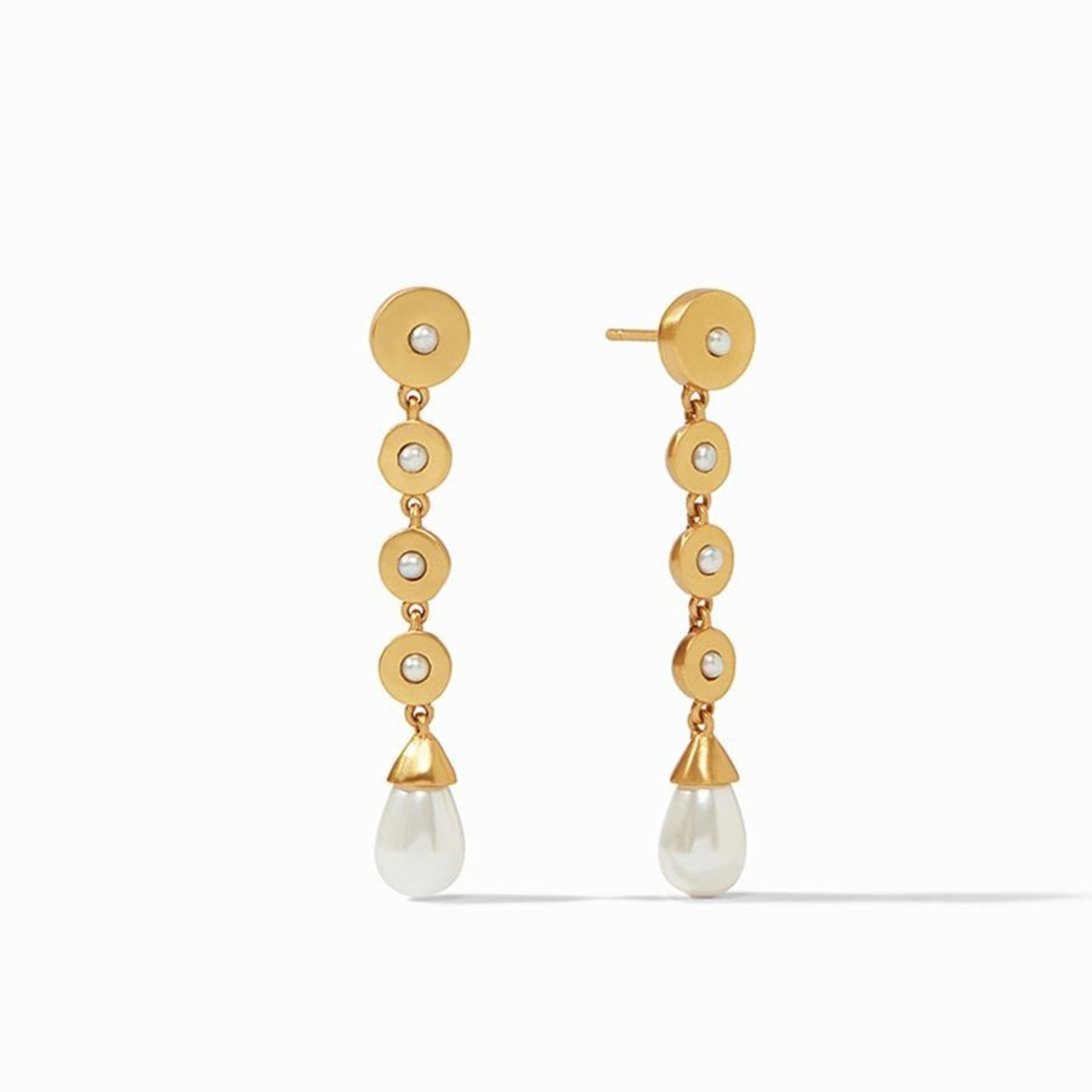 Julie Vos Poppy Statement Earring Pearl CZ Accent