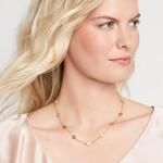 Julie Vos Poppy Delicate Station Necklace CZ