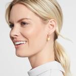 Julie Vos Poppy Hoop & Charm Earring CZ